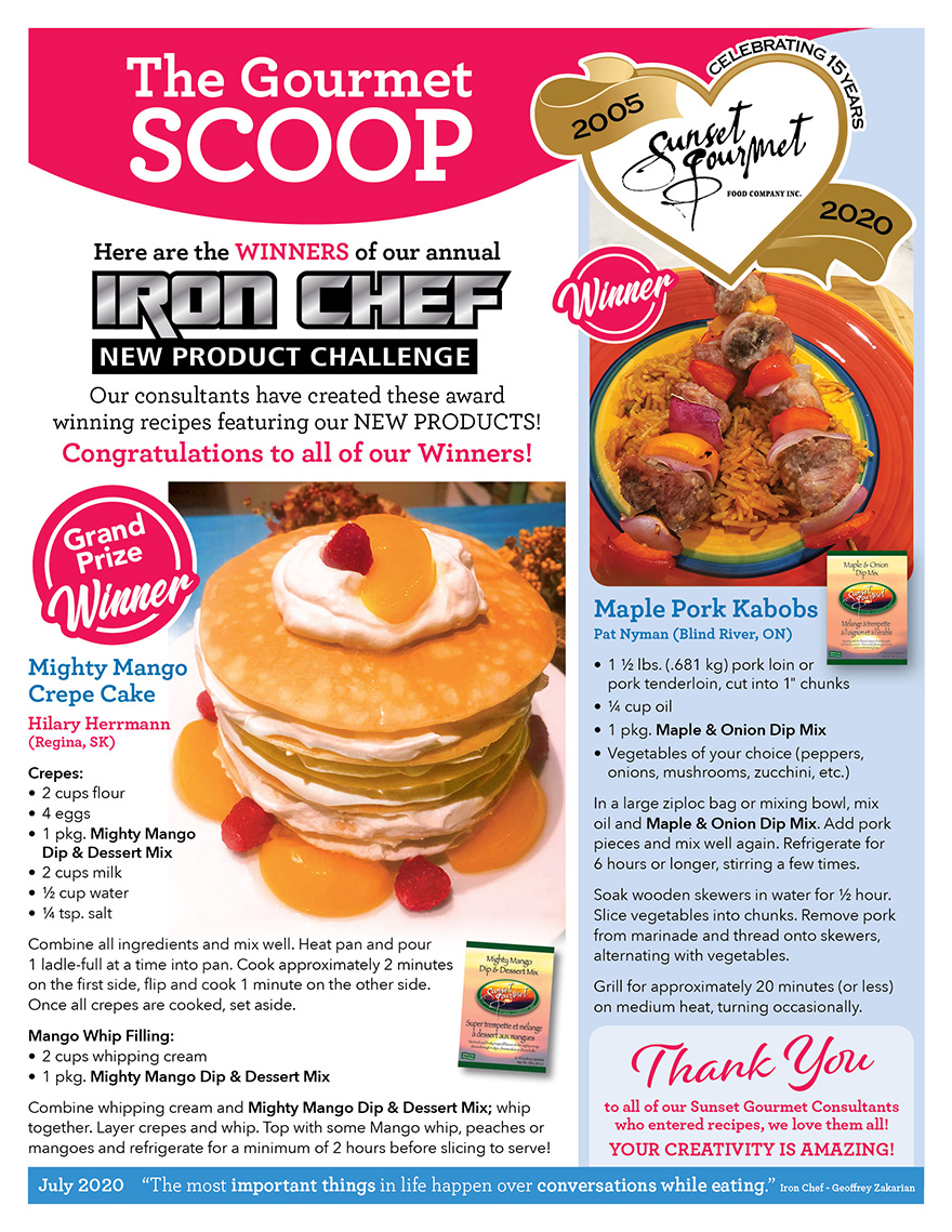 "<span class=""light"">The Gourmet </span>Scoop – July 2020"