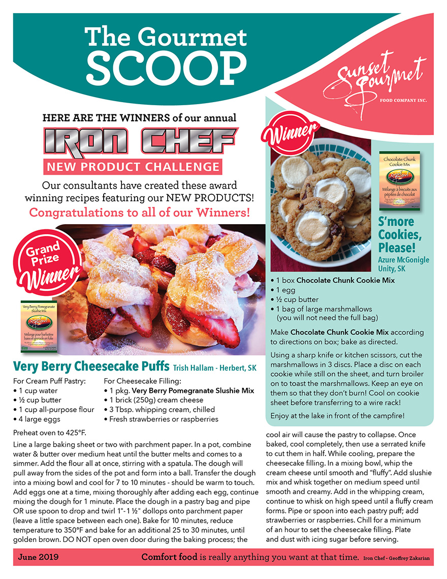 "<span class=""light"">The Gourmet </span>Scoop – June 2019"