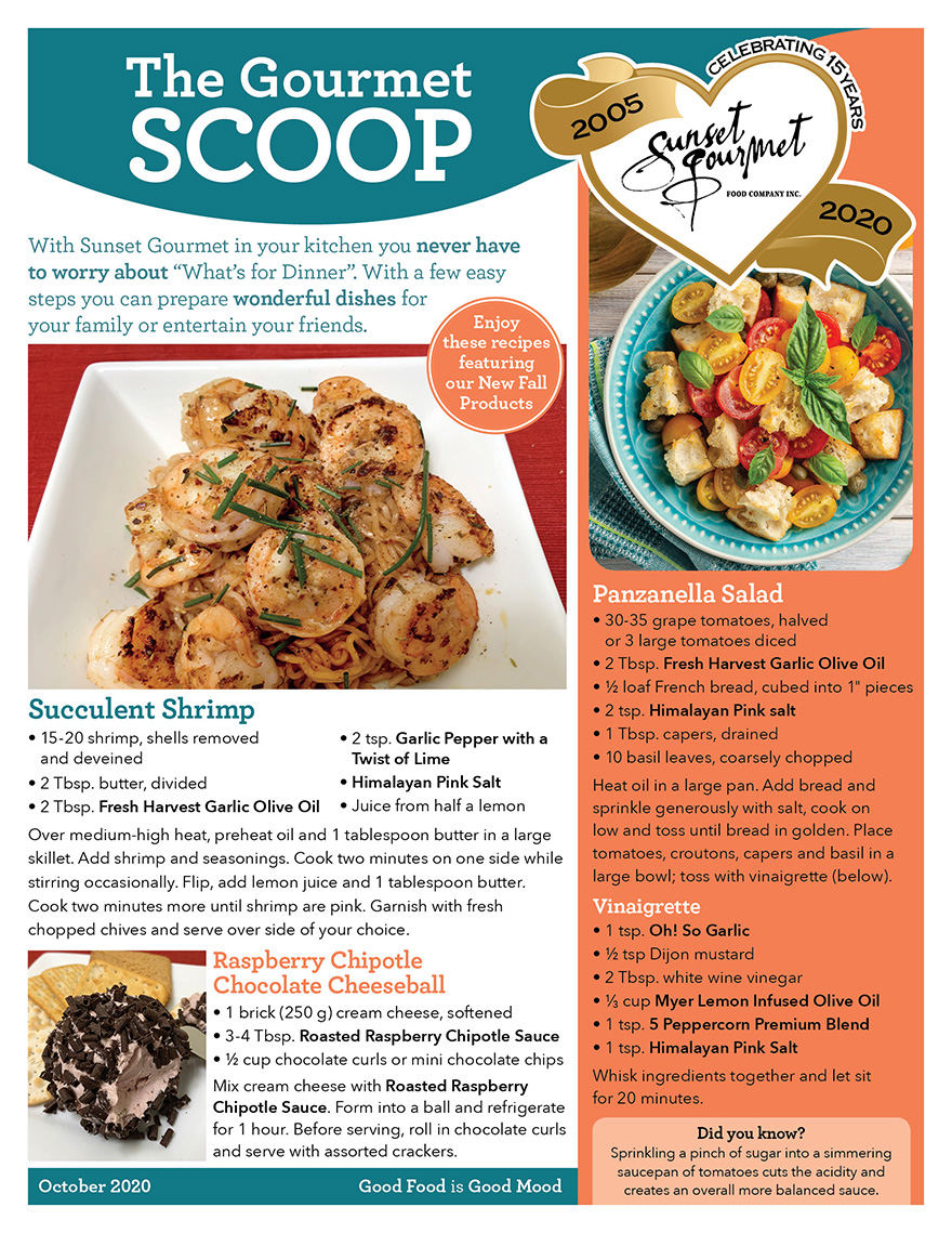 "<span class=""light"">The Gourmet </span>Scoop – October 2020"