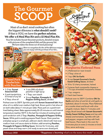 "<span class=""light"">The Gourmet </span>Scoop – February 2020"