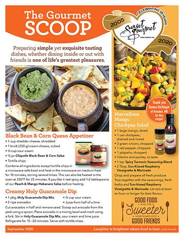 "<span class=""light"">The Gourmet </span>Scoop – September 2020"