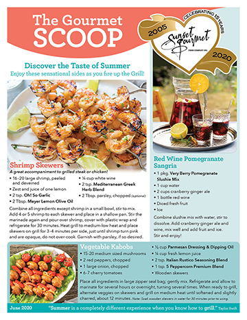 "<span class=""light"">The Gourmet </span>Scoop – June 2020"