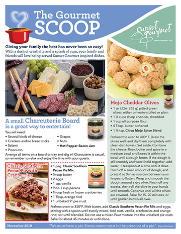 "<span class=""light"">The Gourmet </span>Scoop – November 2019"