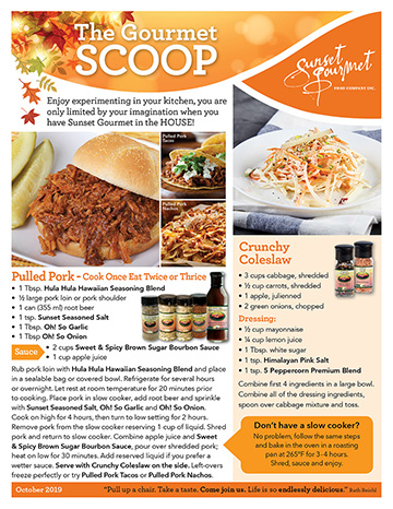 "<span class=""light"">The Gourmet </span>Scoop – October 2019"