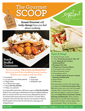 """<span class=""""light"""">The Gourmet </span>Scoop – March 2021"""